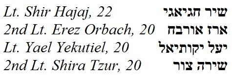 four-israelis-names